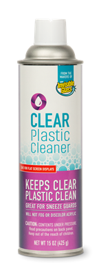 Clear Plastic Cleaner Can