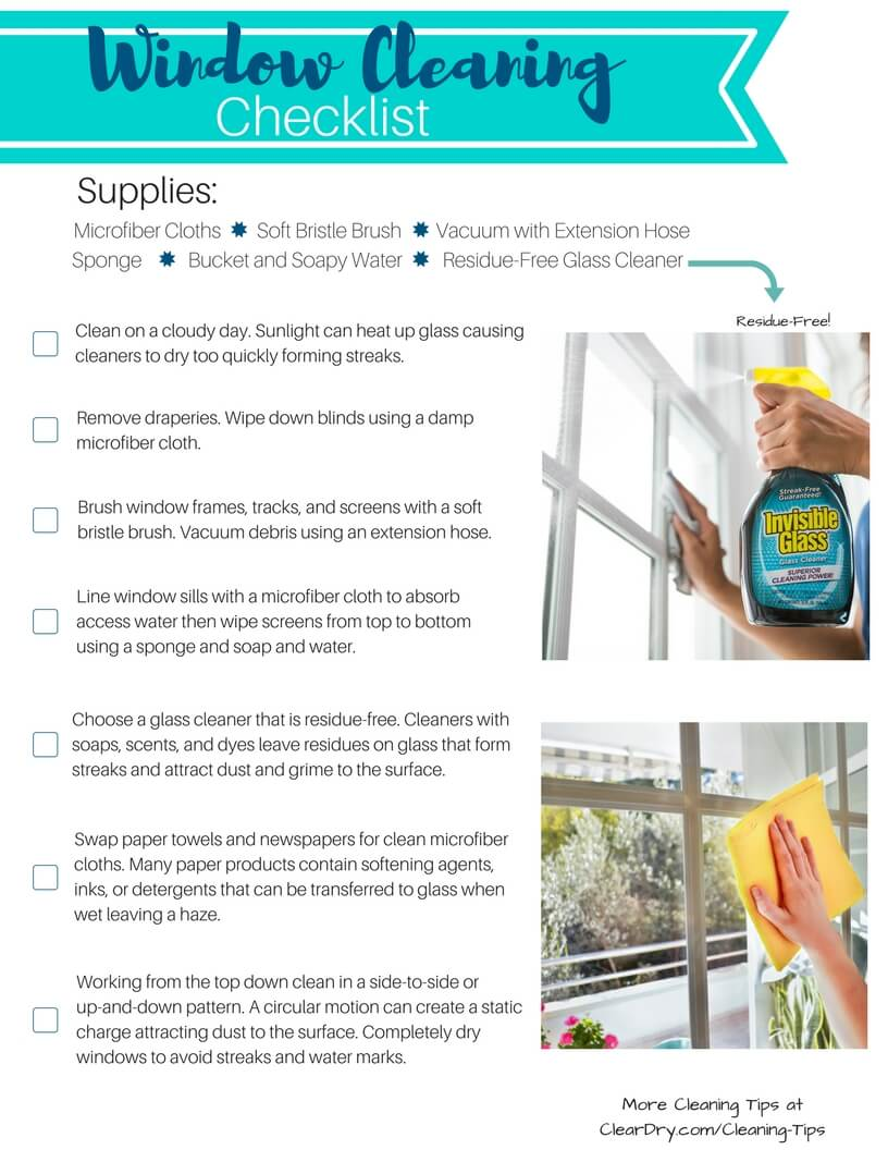 Window cleaning checklist by Invisible Glass